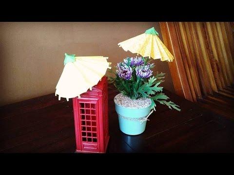 Cara membuat origami payung Jepang detail bisa dibuka dan tutup