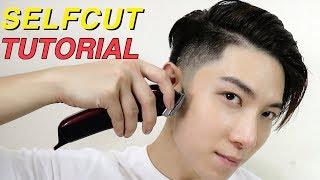 HOW TO CUT HAIR YOURSELF   TAPER FADE + KOREAN TWO BLOCK CUT TUTORIAL   自己剪頭髮   ISSAC YIU