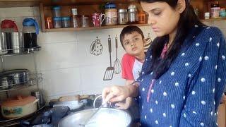 दो किचन हो गयी हमारी????अब खाना अलग बनेगा~Indian productive Day~Real Morning Routine~Room Cleaning
