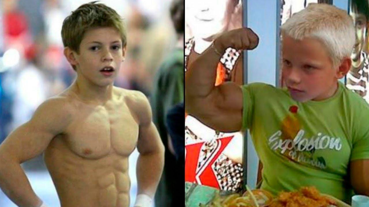 Фото детей с мускулами