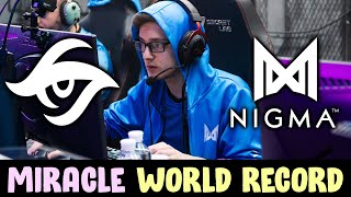 Miracle NEW WORLD RECORD Slark Kills — 13 min GG Nigma vs Secret