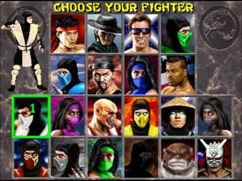 Secret Mortal Kombat 2 Character Select Screen