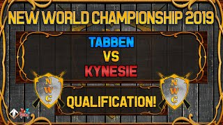 [AoE3] 🌟NWC! Kynesie vs Tabben [QUALIFICATION SERIES] - New World Championship Qualifiers
