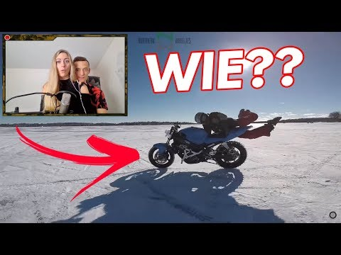Kinder fahren Motorrad/REAKTION