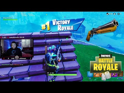 LosPollos Gets A Fortnite Win Trying Out New Double Barrel Shotgun thumbnail