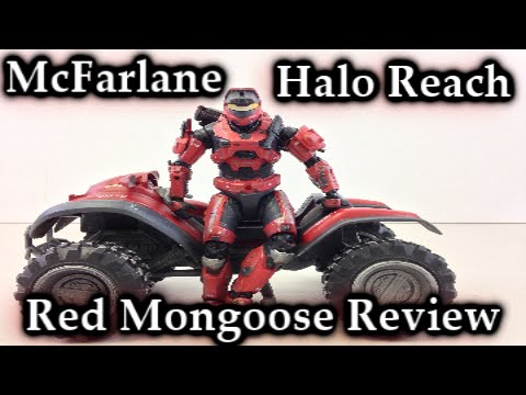 McFarlane Halo Reach   Red Team Mongoose Deluxe Vehicle Review