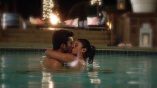 Jane the Virgin 1x19 Jane and Rafael Swimming Pool Kiss Scene