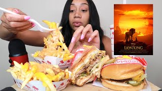 IN-N-OUT ANIMAL STYLE BURGERS & FRIES + LION KING REVIEW