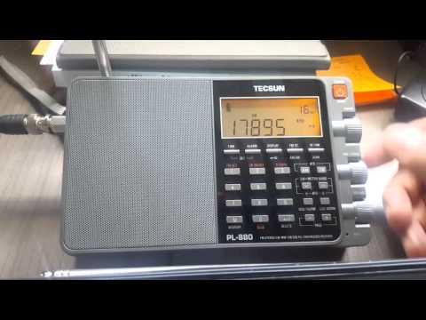 Voice of America 17895kHz - November 01, 2015 1520 UTC Portable Shortwave Radio Comparison