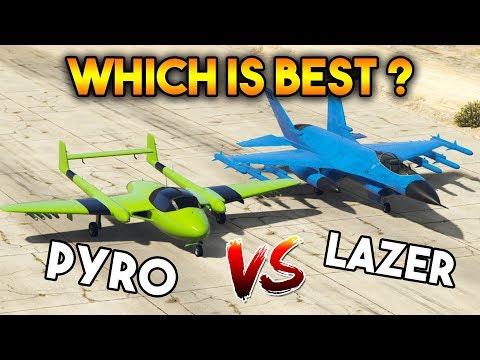 GTA 5 ONLINE : PYRO VS LAZER (WHICH IS BEST PLANE?)