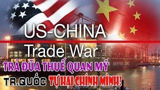 Trả đũa thuế quan Mỹ lợi bất cập hại - Trung Quốc tự hại chính mình!