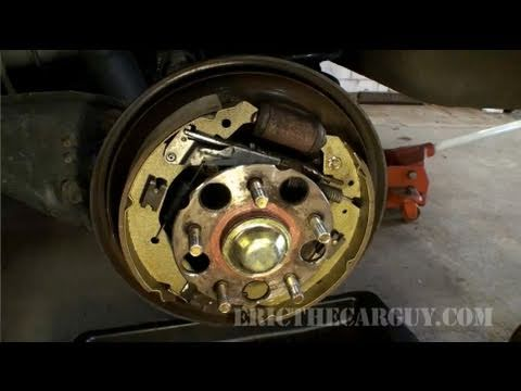 How to Replace Drum Brake Shoes. 2001 Odyssey  - EricTheCarGuy