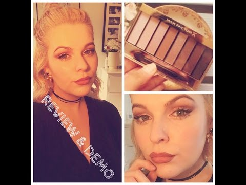 Maxfactor Rose Nude Palette DEMO / First date Makeup (Drugstore products only)