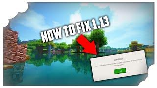 How to fix 1.13 crash fix