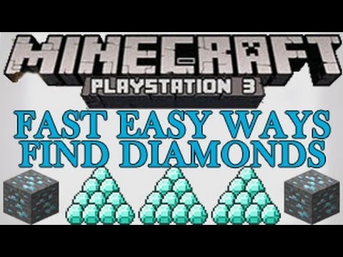 Minecraft PS3 Easy Fast Ways for How to Find Diamonds Tutorial PlayStation 3 1.03 TU13