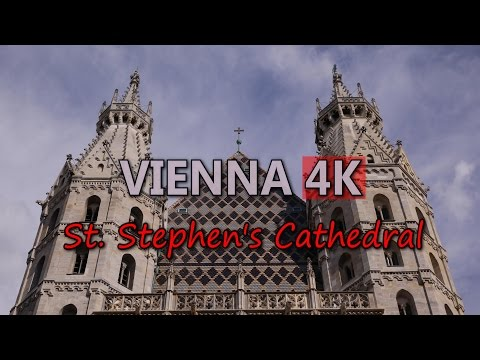 Ultra HD 4K Vienna Travel St Stephen's Cathedral Austria Tourism Sightseeing UHD Video Stock Footage