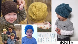 KNITTING TUTORIAL-HIPSTER HAT FOR ALL SIZES