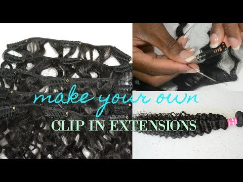 HOW TO MAKE DIY CLIP IN HAIR EXTENSIONS | EASY STEP BY STEP TUTORIAL | feat Ali Julia  Hair