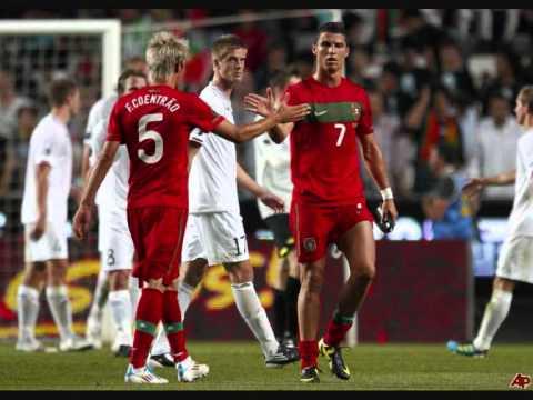 Cristiano Ronaldo and Fabio Coentrao, best friends! Real Madrid & Portugal 2012