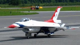 Remote controlled United States Air-Force USAF Thunderbirds Demonstration F-16 giant turbine Jet