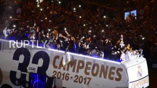 Spain: Real Madrid celebrate first league title in 5 years with thousands of fans