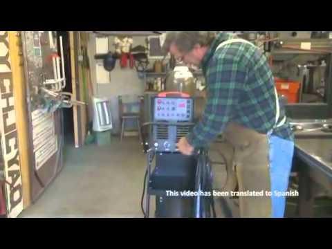 Como Configurar un TigWeld AC/DC Soldador de TIG Aluminio