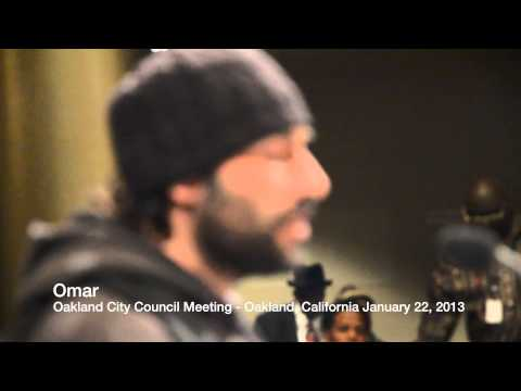 Omar from Occupy Oakland at Oakland City Council Meeting - January 22, 2013