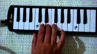 Row Row Row Your Boat melodica Notes
