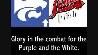 "Fight songs of Kansas State (""Wildcat Victory"") and Lamar"