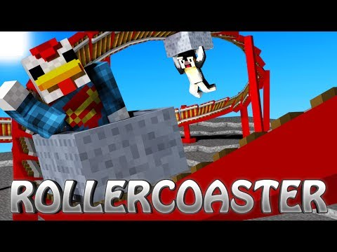 Minecraft   Roller Coaster Mod Showcase! (Roller Coaster Tycoon. RollerCoaster. Amusement Park)
