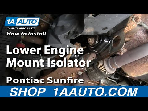 How To Install Replace Lower Engine Mount Isolator Cavalier Sunfire 95-05 1AAuto.com