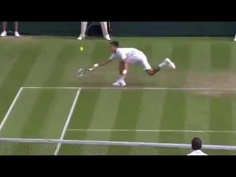 Novak Djokovic brilliant hustle - Wimbledon 2014