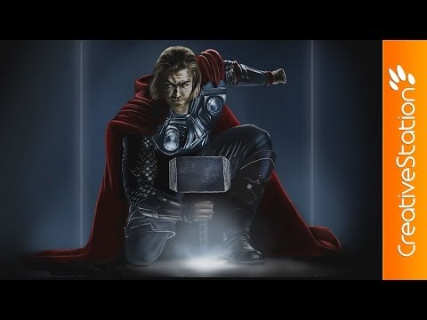 Thor - Speed painting ( #Photoshop ) | CreativeStation