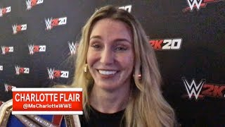 WWE Superstar Charlotte Flair discusses her 10th Title Reign and seeing herself in WWE 2K20