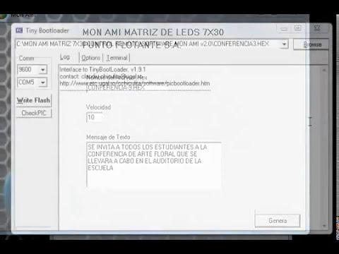 MON AMI DISPLAY PUBLICITARIO MATRIZ DE LEDS DE 7 X 30 ANUNCIO LUMINOSO
