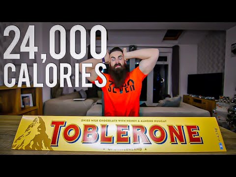 The Biggest Chocolate Bar I've Ever Seen (24.000 Calorie Toblerone Challenge)   BeardMeatsFoode