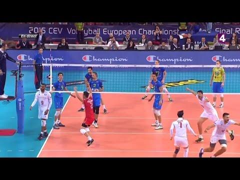 France-Slovénie: la balle de match et le geste incroyable de N'Gapeth
