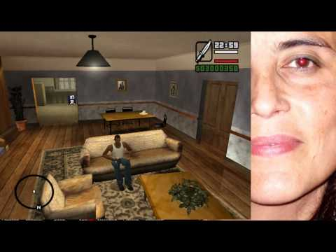 GTA SA -Cleo Mod para desbloquear el baño de CJ y poder dormir LOQUENDO