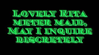 The Beatles Lovely Rita (Metermaid) with Lyrics Highest Quality Audio