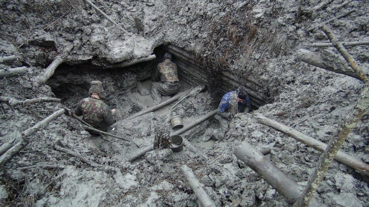 Раскопки немецкого блиндажа вторая мировая hd \\ excavations .