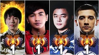THE BEST PLAYERS IN THE WORLD - TOP 1 OF EVERY REGION (Arteezy, Paparazi, inYourdreaM, MidOne) Dota2