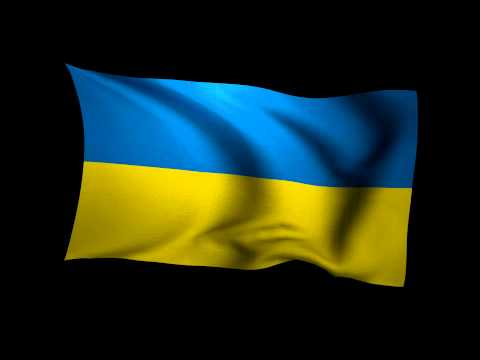 3D Rendering of the flag of Ukraine waving in the wind.