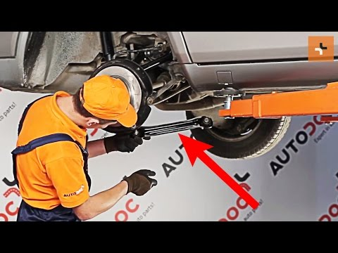 Tutorial: How to replacerear suspension front trailing armonMERCEDES-BENZ E-CLASS W124