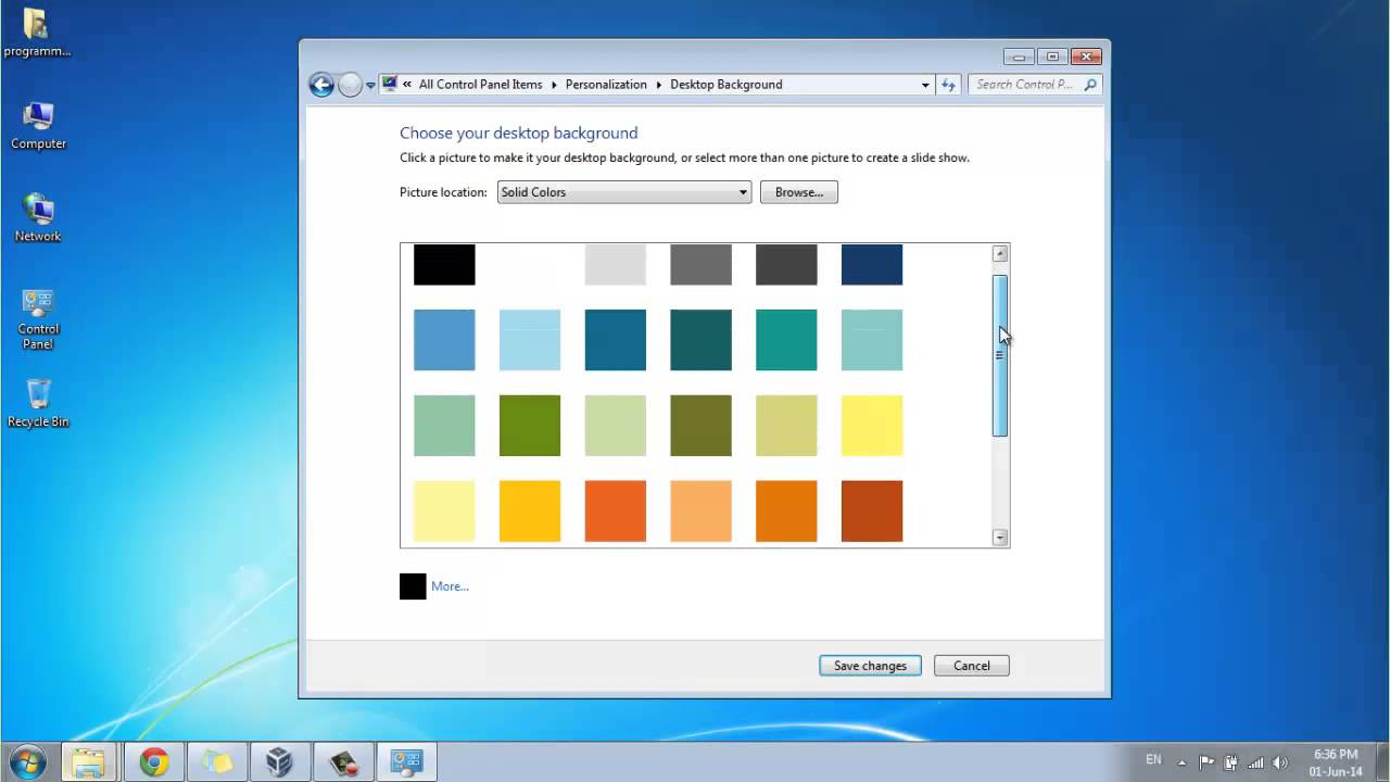 How To Change Desktop Background To A Plain Or Solid Color