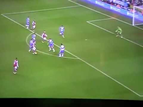 Santi Cazorla Hat-trick Goal - Reading vs Arsenal 17/12/2012