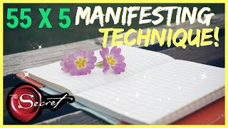 55 x 5 MANIFESTING METHOD! MANIFEST WHAT YOU WANT IN 5 DAYS LAW OF ATTRACTION TECHNIQUE!