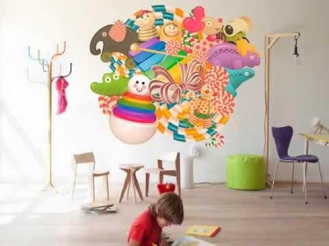 vinilos infantiles para niños. Una gran solución decorativa para habitaciones infantiles
