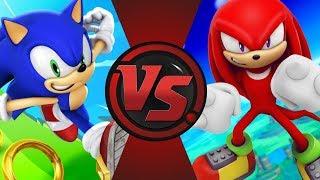 Sonic vs Knuckles! Cartoon Fight Night Bonus Episode!