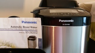HOW TO USE THE PANASONIC AUTOMATIC BREAD MAKER MODEL SD ZB2502 TUTORIAL  maricel cervi