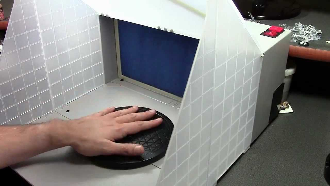 Pop Up Paint Booth >> Review: Portable Airbrush Spray Booth - YouTube